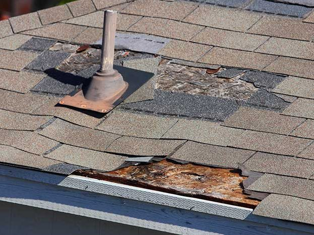 Shingles Damaged on Roof